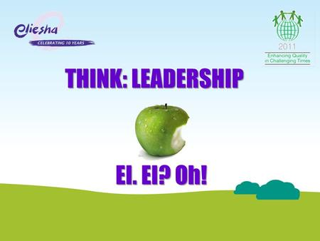 THINK: LEADERSHIP EI. EI? Oh!. This session aims to introduce the concept of Emotional Intelligence and highlight its importance as a vital business topic.