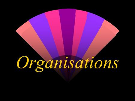 Organisations. What is an Organisation? w A group of persons who interact with each other in an effort to attain certain predetermined goals or objectives.