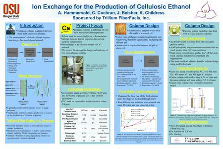 Ion Exchange for the Production of Cellulosic Ethanol A.Hammervold, C. Cochran, J. Belsher, K. Childress Sponsored by Trillium FiberFuels, Inc. IntroductionProject.