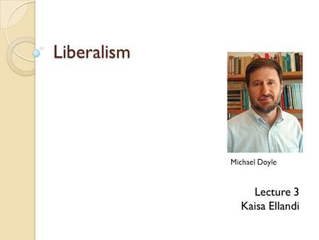 michael doyle - democratic peace thesis