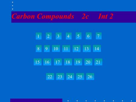 Carbon Compounds 2c Int 2 1234 567 89 10 111213 14 15 22 23242526 161718192021.
