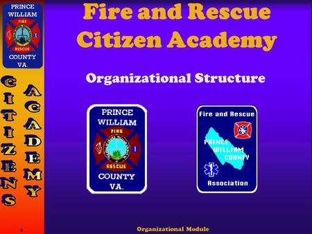 Organizational Module 1 Fire and Rescue Citizen Academy Organizational Structure.