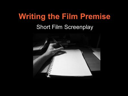 Writing a short film