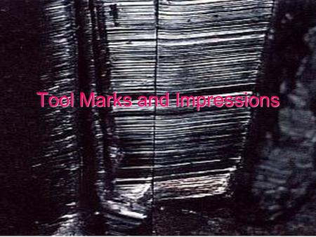 Tool Marks and Impressions. Tool Mark Any impression, cut, gouge, or abrasion caused by a tool coming into contact with another object.Any impression,
