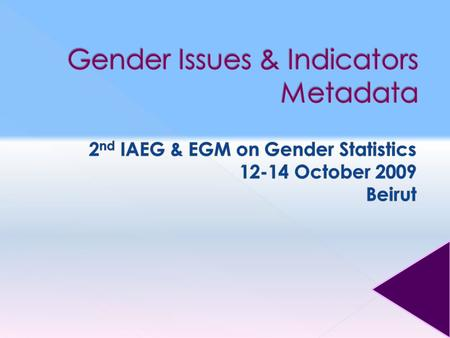  Strategic Objective K.2: Integrate gender concerns and perspectives in policies and programmes for sustainable development.