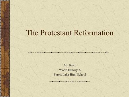 "an analysis of the historical period of the protestant reformation An islamic ""reformation"" – pseudo history meets politics an islamic ""reformation"" – pseudo history meets politics."