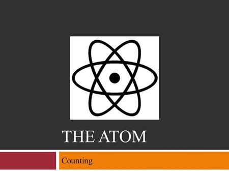 THE ATOM Counting. The Atom  Objectives Explain what isotopes are Define atomic number and mass number, and describe how they apply to isotopes Given.