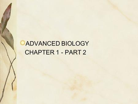ADVANCED BIOLOGY CHAPTER 1 - PART 2. ANATOMICAL POSITION BODY ERECT (STANDING UP) FEET PARALLEL TO EACH OTHER (SHOULDER WIDTH APART) ARMS HANGING AT SIDES.