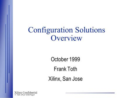 Configuration Solutions Overview