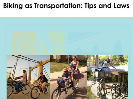 Biking as Transportation Safely Today we will have a great and safe ride. We will use our bikes as transportation. We will ride in pods, following our.