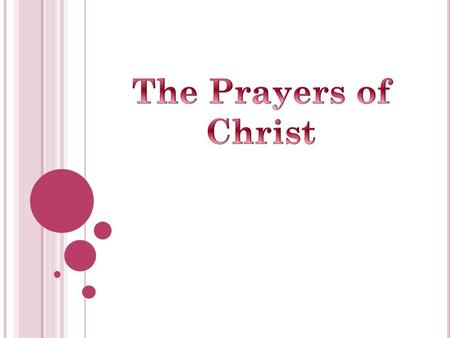 Jesus made prayer a significant part of his life Start of day Mark 1:35 Close of day Matthew 14:13-16, 22-23 Daily Prayers.
