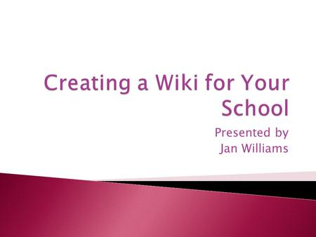"Presented by Jan Williams.  ""You see and hear it everywhere, Web 2.0 This and Web 2.0 That but what is Web 2.0? How do you define Web 2.0? Well,"