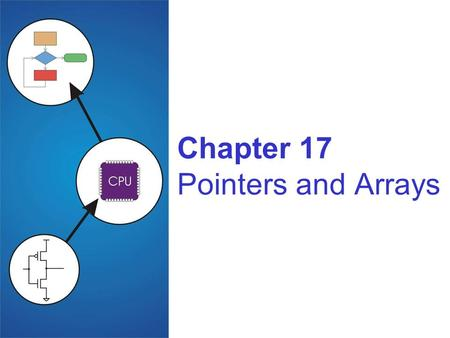 Chapter 17 Pointers and Arrays. Copyright © The McGraw-Hill Companies, Inc. Permission required for reproduction or display. 17-2 Pointers and Arrays.