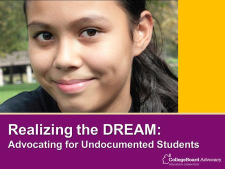 K-12 – In 2002, there were 1.6 million undocumented children under the age of 18 (Passel, et al., 2004)  Middle School & High School – In 2002, approximately.