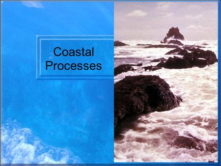 Coastal Processes. Wavelength and Amplitude Wave height (amplitude) = f(vel of wind, duration of wind, and fetch) Wave speed (celerity) = f(wavelength.