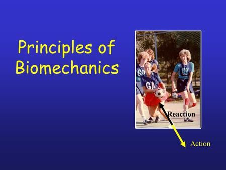 Principles of Biomechanics Action Reaction. Lesson Aim: To critically examine the biomechanical principles which are important in Physical activity &