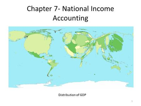 Chapter 7- National Income Accounting Distribution of GDP 1.