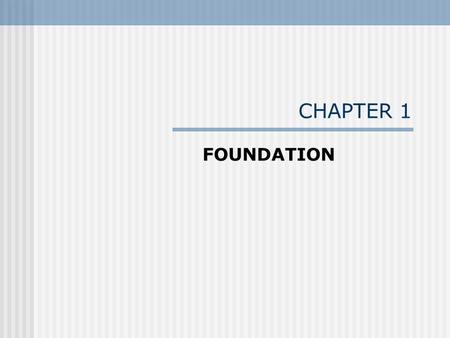 "CHAPTER 1 FOUNDATION. 1.1 National Environmental Policy Act (NEPA) ""An act to establish a national policy for the environment, to provide for the establishment."