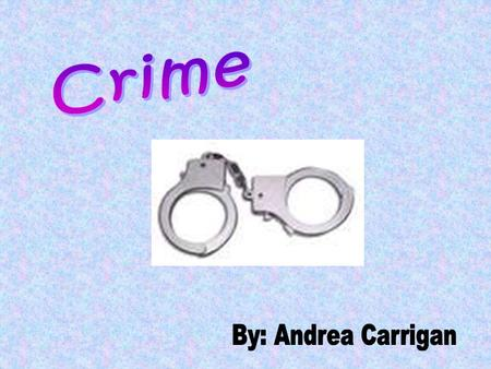 CRIME - A crime is a wrongdoing classified by the state or Congress as a felony or misdemeanor. A crime is an offence against a public law. This word,