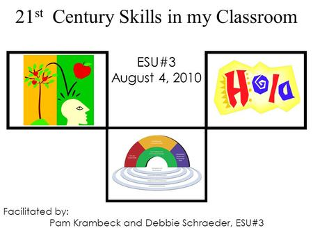 21 st Century Skills in my Classroom ESU#3 August 4, 2010 Facilitated by: Pam Krambeck and Debbie Schraeder, ESU#3.