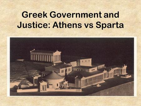 athens vs sparta government essay Women did not participate in the political life of athens spartan government: usually classified as an oligarchy (rule by a few), but it had elements of monarchy (rule by kings), democracy (through the election of council/senators), and aristocracy (rule by the upper class or land owning class) two kings who were generals.