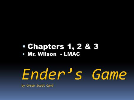 an analysis of enders game bu orson scott card 12:00 am pdt 10/25/2013 by marc bernardin  of being able to analyze any  situation and see the way to achieve the most positive outcome, even if  ender's  game, like orson scott card's 1985 novel upon which it's based, is a story about  a.