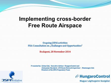 Implementing cross-border Free Route Airspace