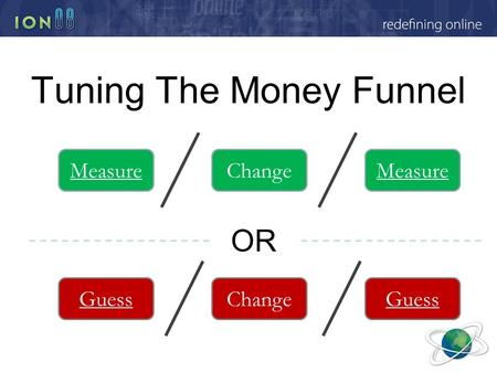 Tuning The Money Funnel OR MeasureChangeMeasure GuessChangeGuess.