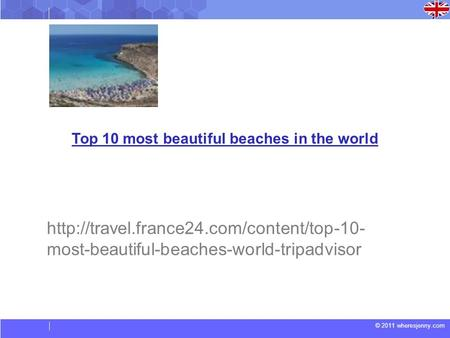© 2011 wheresjenny.com Top 10 most beautiful beaches in the world  most-beautiful-beaches-world-tripadvisor.