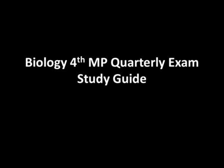 Biology 4 th MP Quarterly Exam Study Guide. Genetic drift: change in allele frequency due to chance Bottleneck Effect: genetic drift after a bottleneck.