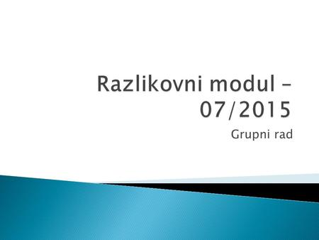 Grupni rad. Introduction Method Results and Discussion - Uvod - Postupci - Rezultati - i - Rasprava IMRaD.
