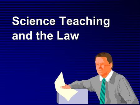 Science Teaching and the Law. Disclaimer: I'm not a lawyer, so I can't give legal advice. But I can suggest that you… Carry liability insurance. Carry.