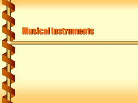 Musical Instruments. Standing Waves  Waves that reflect back and forth interfere.  Some points are always at rest – standing waves.