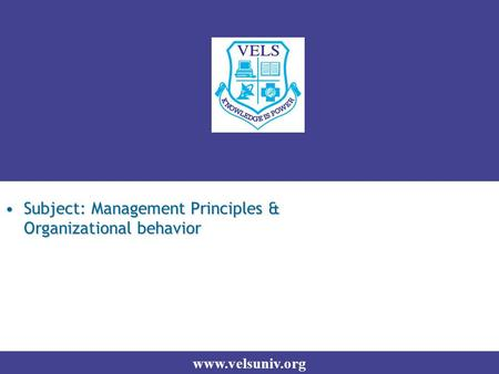 principles of management organizational behavior Organizational behavior and management by ivancevich, konopaske and matteson - chapter one understanding organizational behaviour ethics- ethics is the use of moral principles and values to affect the behavior of individuals and.