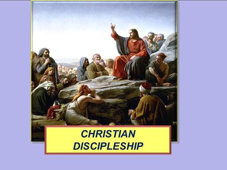 CHRISTIAN DISCIPLESHIP. Why God Made Man; How the Human Functions. You are God's Crowning Creation.