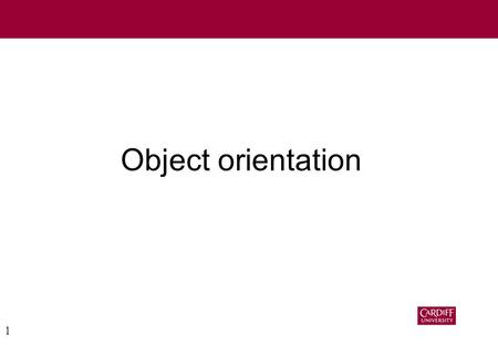 1 Object orientation. 2 What benefits does OO give? Primarily –Encapsulation (Associates data & operations) –Types & specialisation –Software re-use.