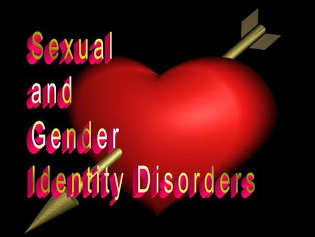 Paraphilias Gender Identity Disorders Sexual Dysfunctions Paraphilias Gender Identity Disorders Sexual Dysfunctions Main Classes of Disorders.
