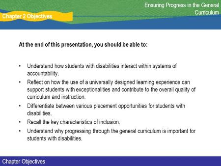 At the end of this presentation, you should be able to: Understand how students with disabilities interact within systems of accountability. Reflect on.
