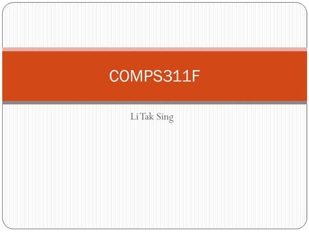 Li Tak Sing COMPS311F. Applets An applet is any small application that performs one specific task, sometimes running in the context of a larger program,