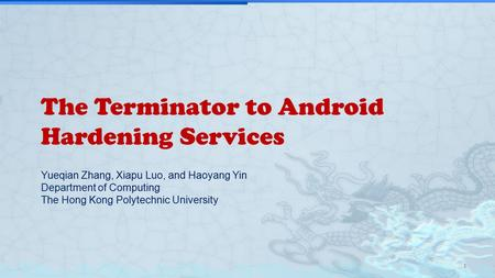 The Terminator to Android Hardening Services