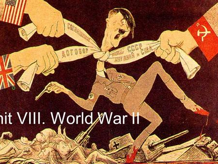 Unit VIII. World War II. D. Impact of WWII D. Impact of WWII 1. Civilian Life and Total War a. Both the Allies and axis engaged in total war *Cities.