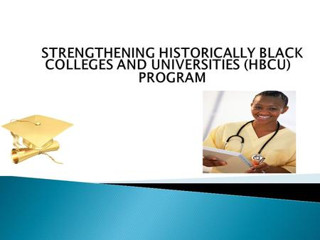 STRENGTHENING HISTORICALLY BLACK COLLEGES AND UNIVERSITIES (HBCU) PROGRAM.
