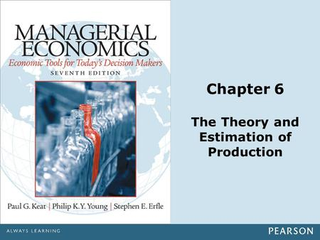 Chapter 6 The Theory and Estimation of Production.