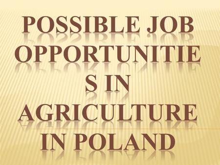 SOME FACTS ABOUT OUR COUNTRY: a country in Central Europe the total area of Poland: 312,679 square kilometers agricultural land: 17, 2 mln ha population: