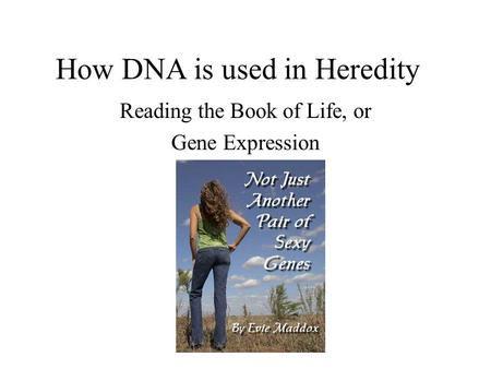 How DNA is used in Heredity Reading the Book of Life, or Gene Expression.