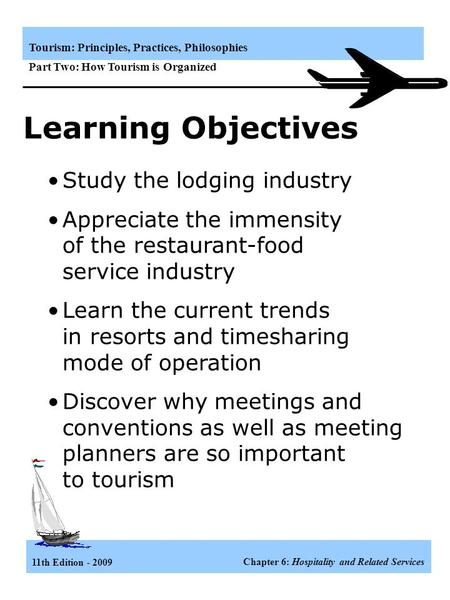 Learning Objectives Study the lodging industry