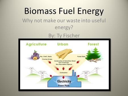 Why not make our waste into useful energy? By: Ty Fischer