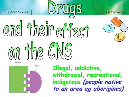 Drugs and their effect on the CNS