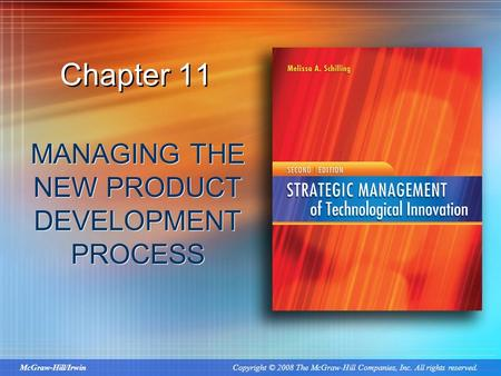 Copyright 2011 by the mcgraw hill companies inc all for Product development inc