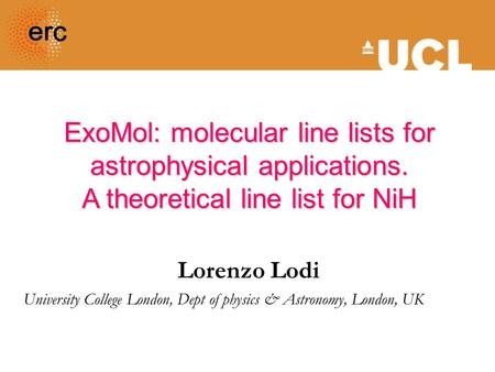 ExoMol: molecular line lists for astrophysical applications